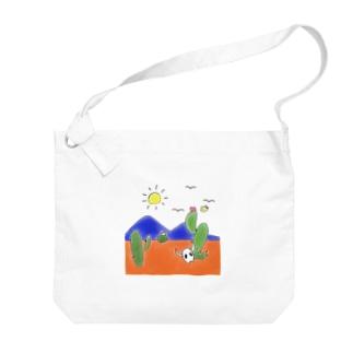 クマバチゴルフ倶楽部のクマバチとメキシカンタイル Big shoulder bags