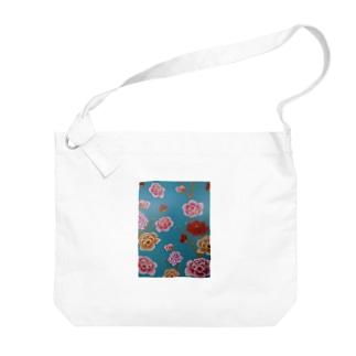 花柄 Big shoulder bags