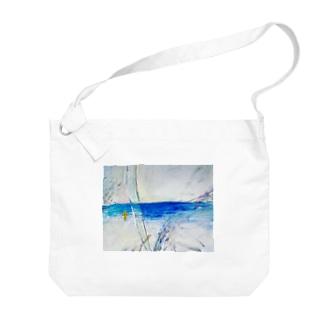 海の絵 Big shoulder bags