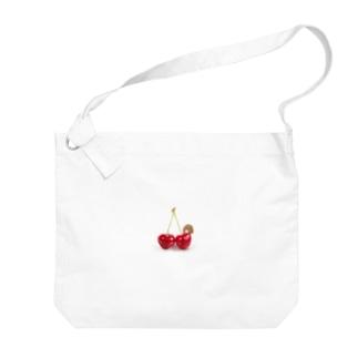 さくらんぼとちびこ Big shoulder bags