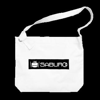 SABUROのカエル ドラム ロゴ Big shoulder bags