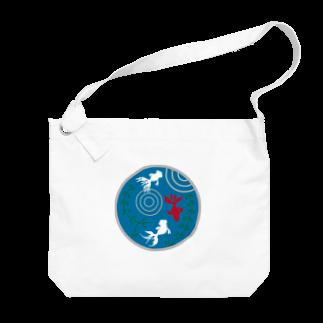 ジャパニーズスタンダードの金魚・丸 Big shoulder bags