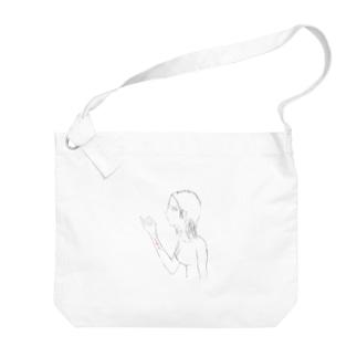 しにたい子 Big shoulder bags
