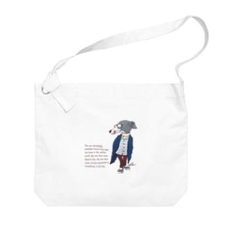 おしゃれイタグレ Big Shoulder Bag