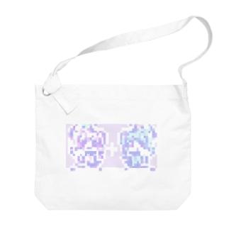 ドット絵ゆめかわナースちゃん×2 Big shoulder bags