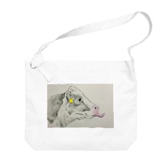 ペロリン牛 Big shoulder bags