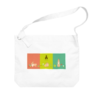 Spring Rabbits Big shoulder bags