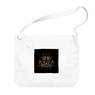 黒と王冠 Big shoulder bags