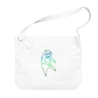 ぶらーんとナマケモノれいんぼー Big shoulder bags