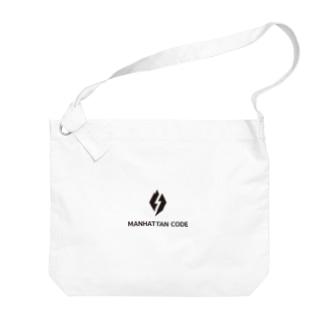 MHT_LOGO ー BLACK Big shoulder bags