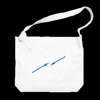 ひずわぷのRJ-45 T568B ストレートケーブル Big shoulder bags