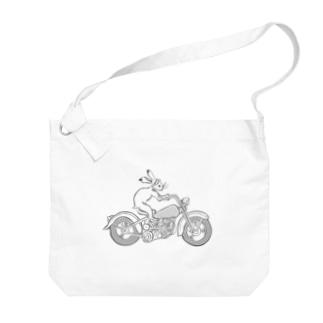 鳥獣戯画現代版 バイク Big shoulder bags