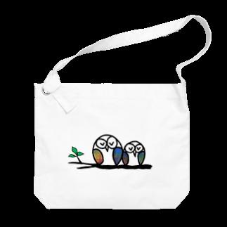 suzuran-rindouのおやすみふくろうくん3 Big shoulder bags