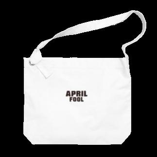 グラフィンの4月1日エイプリルフール用デザイン April fool Big shoulder bags