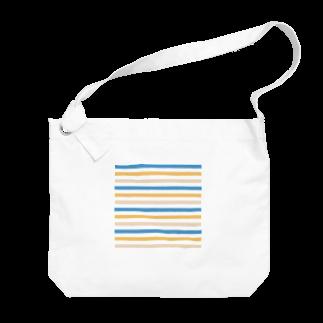 SANKAKU DESIGN STOREの北欧カラーボーダー。 Big shoulder bags