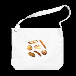 フラミンゴ洋裁店のパン Big shoulder bags