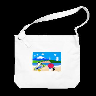 そっくの海辺でまったり パラソル Big shoulder bags