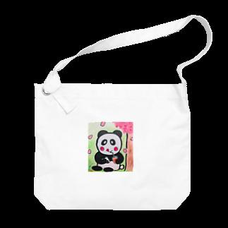 ル.ボヌールのお花見パンダちゃん Big shoulder bags
