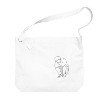 らっきょくん Big shoulder bags