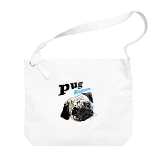 パグの泣き声 Big shoulder bags