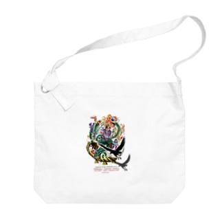半立体イラスト『古事記~KOJIKI~』Tシャツ Big shoulder bags