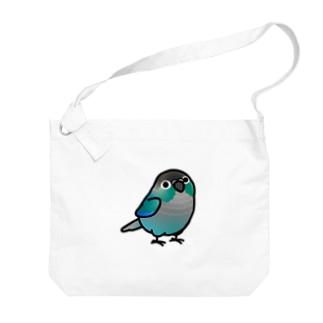 Chubby Bird ウロコインコ ターコイズ Big shoulder bags