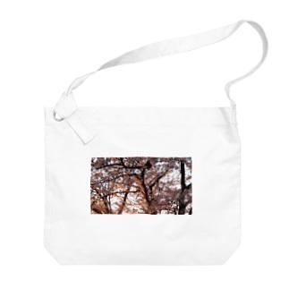 夕焼けに照らされた桜 Big shoulder bags