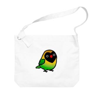 Chubby Bird キエリクロボタンインコ Big shoulder bags