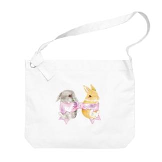 しず華*(カラー・リボンボン)のりぼん Big shoulder bags
