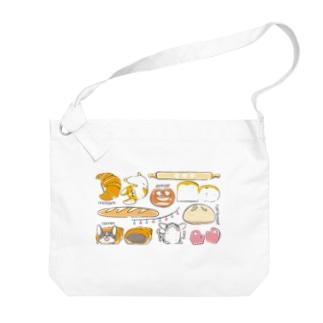 コーギーパン(横長) Big shoulder bags