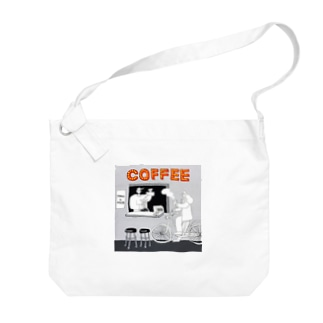 "shinri murakami "" COFFEE STAND "" Big shoulder bags"