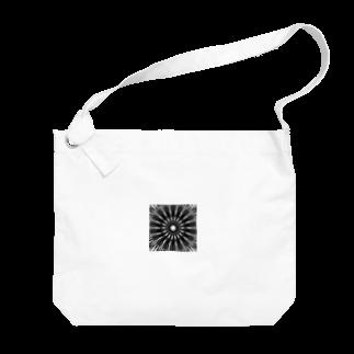 左の幾何学模様 series Big shoulder bags