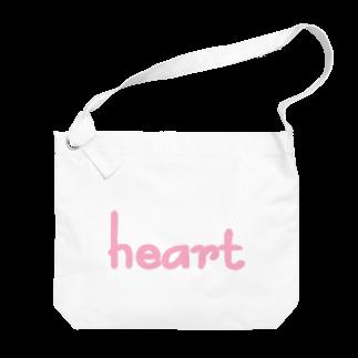 アメリカンベースのハート Big shoulder bags