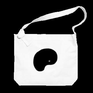 佐藤香苗のたましいちゃん(黒) Big shoulder bags