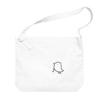 いにしえのトリ Big shoulder bags