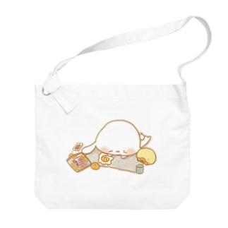 うさきちとぴよすけ「休憩」 Big shoulder bags