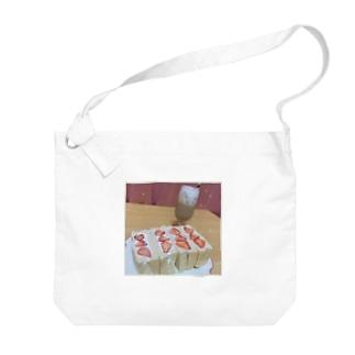 苺サンドでお家カフェ Big shoulder bags