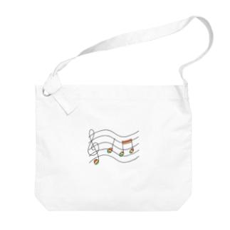 虹の音符たち Big shoulder bags