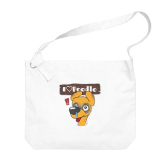Hi-BoのI Love Poodle(ビクッ!!) Big shoulder bags