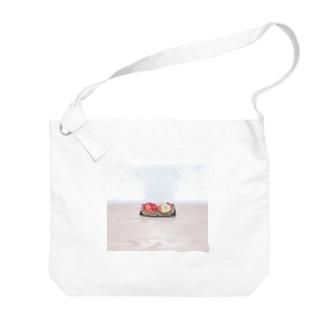 控えめフルーツタルト Big shoulder bags