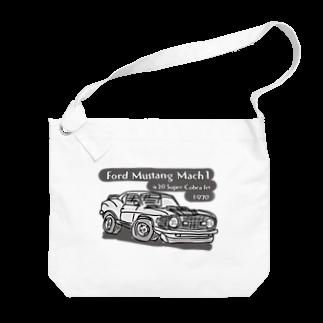 ばんやのマスタングモノトーン Big shoulder bags