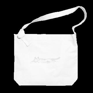 Ojaco Storeのお昼寝猫ニャオ Big shoulder bags