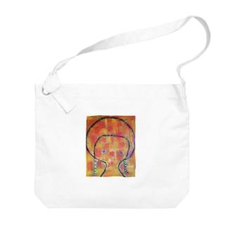 虹色のワンピース Big shoulder bags
