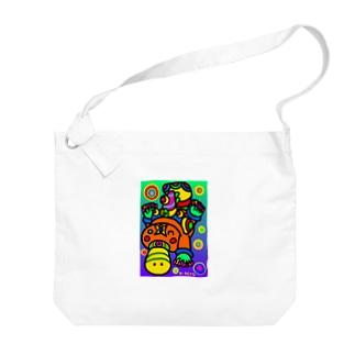 カモノハシ Big shoulder bags
