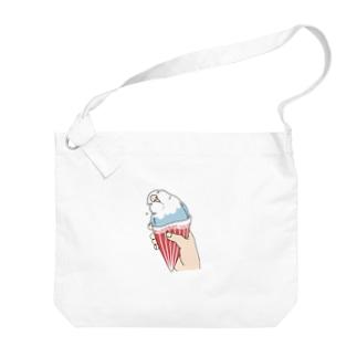 インコグッズ屋のインコアイス(ヴァイオレット) Big shoulder bags