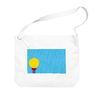 雨の日 Big shoulder bags