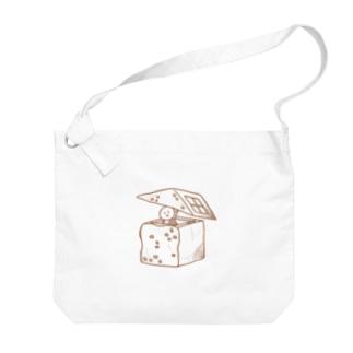 食パンおうち Big shoulder bags