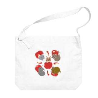 デグーとりんご Big shoulder bags