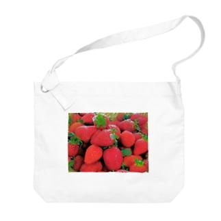 花びらいちごC Big shoulder bags
