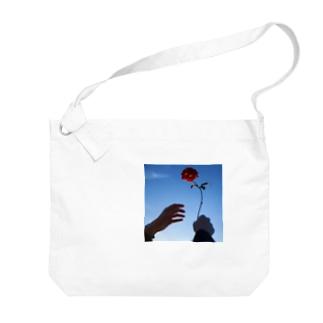 Take Red Big shoulder bags
